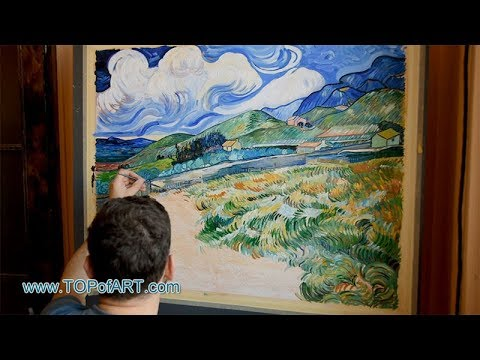 van Gogh - Mountainous Landscape Behind Saint-Paul Hospital | Oil Painting Reproduction