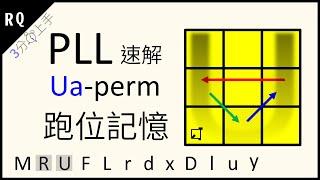 邊塊型 2/4 - U Perm 魔術方塊 PLL公式教學 (3min上手跑位記憶) RQPLLU (Ua Perm) CFOP速解系列   RQ魔方