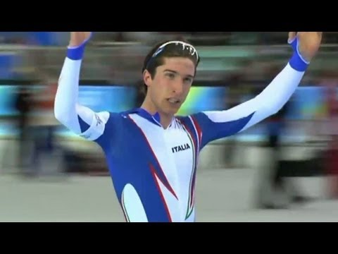 Enrico Fabris Wins 1500m Speed Skating Gold - Torino 2006 Winter Olympics