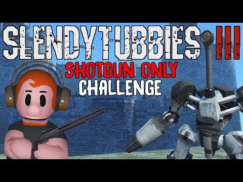 SLENDYTUBBIES 3 SHOTGUN ONLY SURVIVAL CHALLENGE | FORTRESS MAP - 10 WAVES | THE ANNOUNCER FINAL BOSS