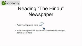 IAS Preparation to Crack the UPSC Examinations : Part 11 How to read The Hindu newspaper