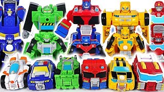 Cute and easy!! Transformers Rescue Bots Flip Racers Bunblebee, Optimus Prime! Go! - DuDuPopTOY