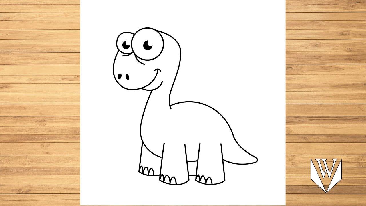 wie zeichnet man süße dinosaurier  schritt für schritt