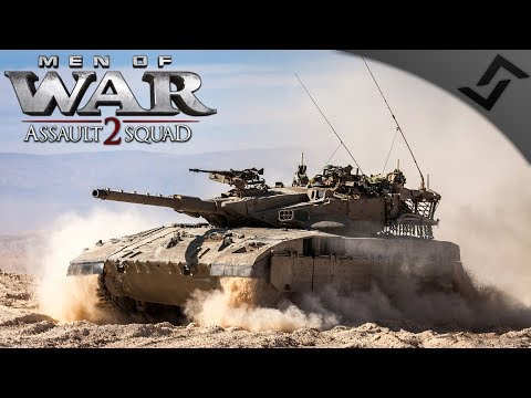 1v1 Israeli Merkava Assault Red Frog Mod - Men of War: Assault Squad 2 Multiplayer Gameplay