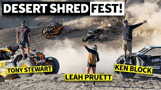 Ken Block, NASCAR's Tony Stewart, and NHRA's Leah Pruett Shred Can-Am's. Guess Who Crashes??