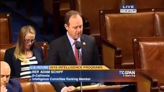 Rep. Schiff Floor Statement on the Intelligence Authorization Act FY16