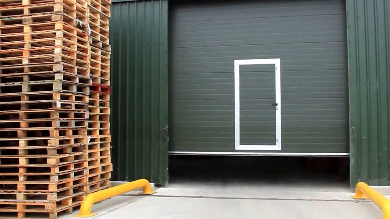 Sectional Door with Pass Door  YouTube