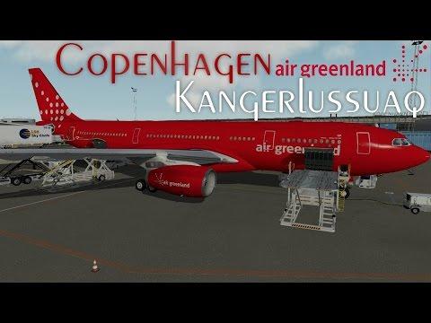 X-Plane 10 - Copenhagen to Kangerlussuaq - Air Greenland