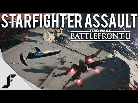 STAR WARS BATTLEFRONT II STARFIGHTER ASSAULT GAMEPLAY - Exclusive