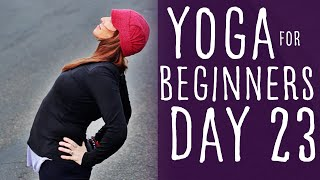 30 Minute Yoga For Beginners 30 Day Challenge Day 23 with Fightmaster Yoga