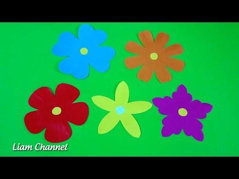 Bỏ túi 5 cách cắt Bông Hoa cực đơn giản | Easy paper cutting flower craft | Liam Channel | Foci