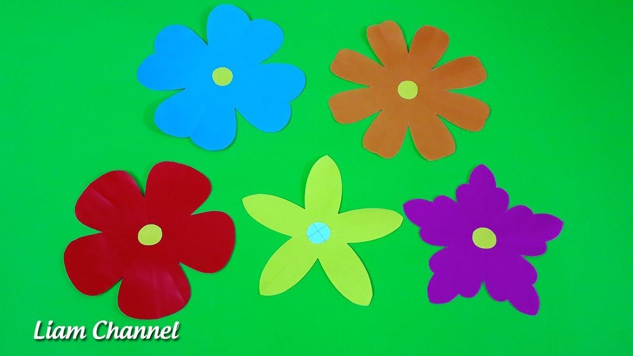 Bỏ túi 5 cách cắt Bông Hoa cực đơn giản | Easy paper cutting flower craft | Liam Channel