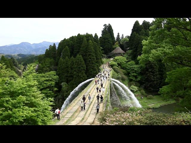 JG 熊本 通潤橋の通水(重文) Kumamoto,Tsujunkyo(Cultural Property)