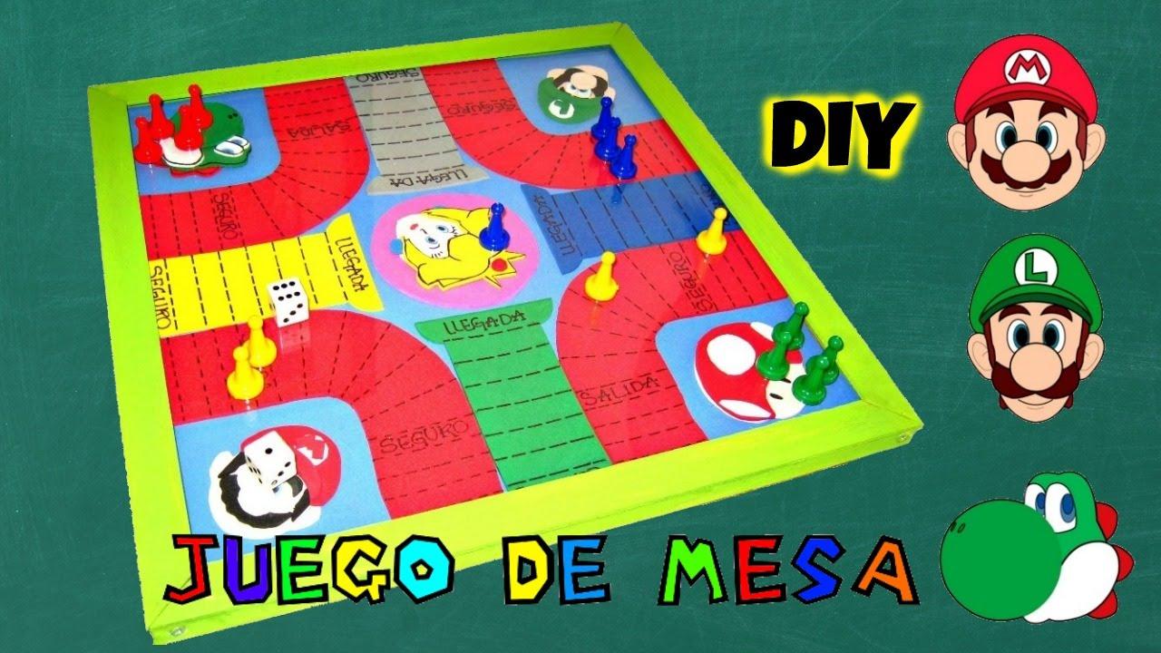 DIY JUEGO DE MESA DE MARIO BROS EN FOAMY  YouTube
