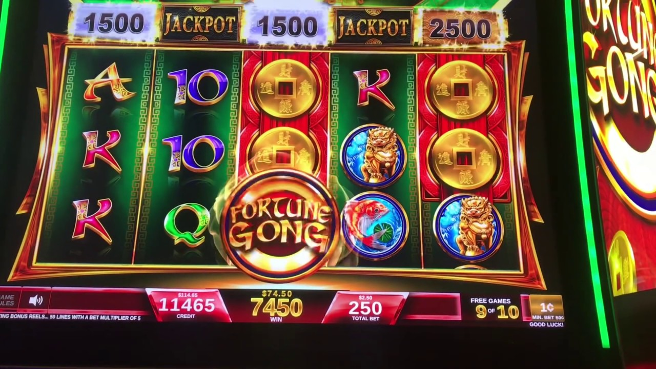 Fortune Gong Video Slot Machine Bonuses 2 50 Max Bet