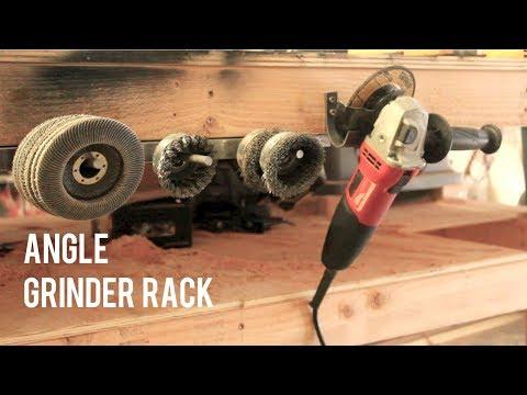 DIY Angle Grinder u0026 Disk Storage Rack // Quick u0026 Easy & DIY Angle Grinder u0026 Disk Storage Rack // Quick u0026 Easy - YouTube