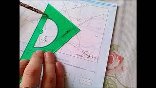 Школьная топография. Определение азимута на плане местности