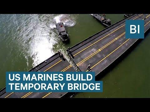 US Marines built a temporary bridge across the Colorado River