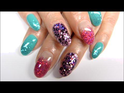 Gel Nails Bright And Fun Design Underthelilyshadow
