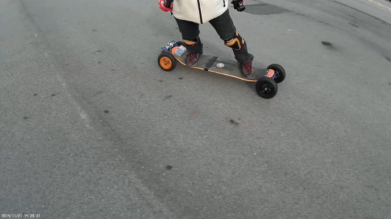 CRAZY RC] Electric Mountain board, turn[go] round and round #4