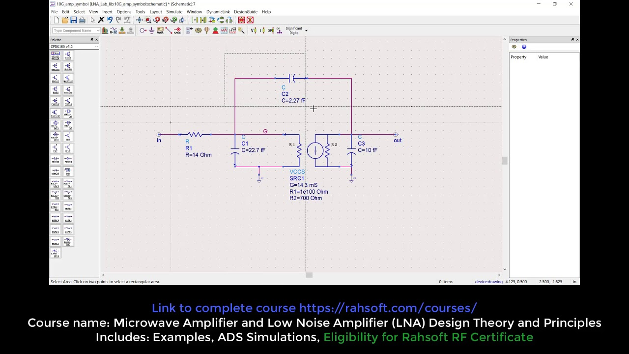 small signal model for amplifier tutorial using ads advanced design system