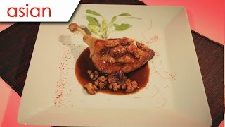 Braised Duck Leg With Walnuts And Raisins Sauce  -  Silent Cooking With Simon Xie Hong (with Recipe)