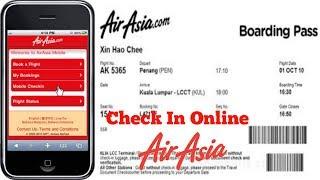 Cara Check In Online Tiket Air Asia