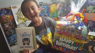 HAPPY POKEMON BIRTHDAY ETHAN!! Psycho Turtles NEW Basket! Full of Boxes, Packs, Cards, Candy & Toys!