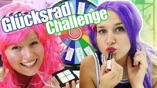 GLÜCKSRAD HAIRSTYLE & MAKE UP Challenge deutsch | Neues Styling für Nina & Kathi | Spiel mit mir