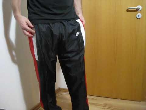 Nike boy cal surf Nylon Polyamid glänzende Jogginghose sweatpants Track Pants 尼龙运动裤 (12)
