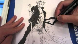 How to draw Ichigo with Bankai 黒崎 一護