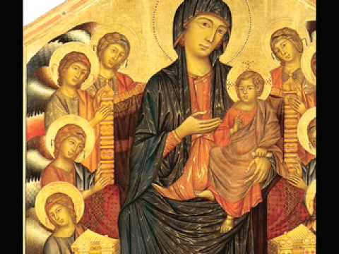 """a comparison of madonna of the meadow and madonna enthroned Fig 3 compare these to giotto's madonna enthroned """"two angels kneel in the foreground and angels of the choir are placed one in front of another to create a sense of expanding space and."""