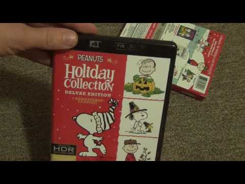 Peanuts Holiday Collection Deluxe Edition 4K Ultra HD BluRay Unboxing