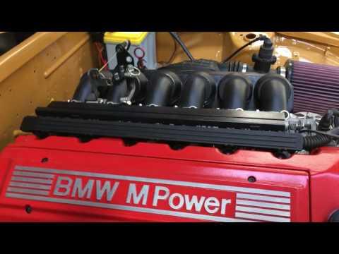 BMW E36 M3 powered 240Z first start in car