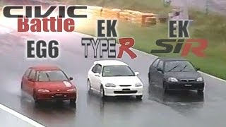 [ENG CC] Civic Type R EK9 vs. Tuned EK SiR vs. Tuned EG6 Ebisu HV29