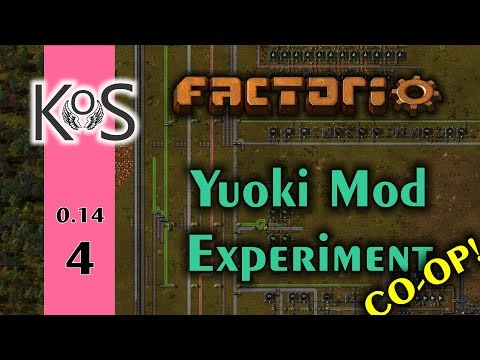 Factorio: Yuoki Mod Experiment - Co-op! Ep 4: The Factory Takes Shape - Multiplayer 0.14