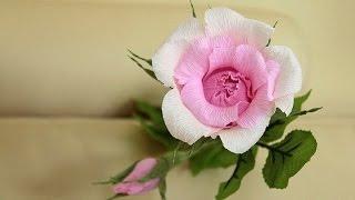 роза из гофрированной бумаги /// Rose of corrugated paper(Идея для розы из гофрированной бумаги своими руками. розы из гофрированной бумаги своими руками, роза из..., 2016-03-25T09:36:16.000Z)