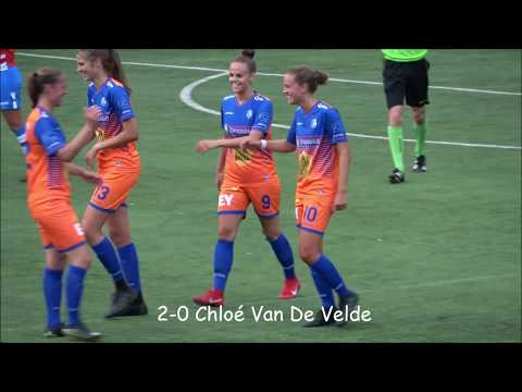 Oefenmatch KAA Gent Ladies A-Club Brugge Vrouwen A 6-1, 27-07-2018