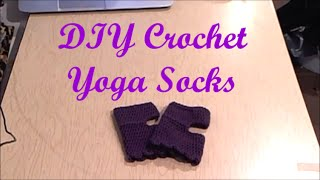 Simple DIY Crochet Yoga/Pilates Socks with a scallop edge