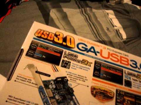 Gigabyte GA-USB3 USB 3.0 PCI-E Expansion Card Unboxing