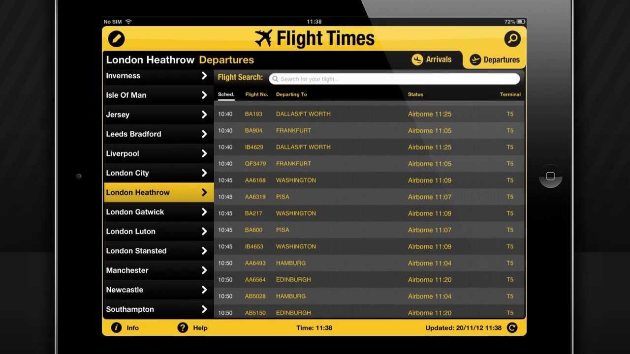 Flight status jfk - Flight Arrivals Departures For 100 Airports On Iphone Ipad Ipod Devices