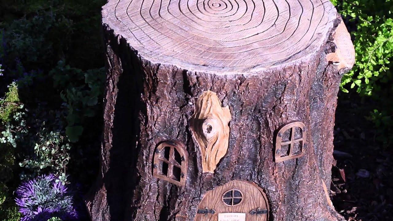 Fairy Stump Sku 39089 Plow Amp Hearth Youtube