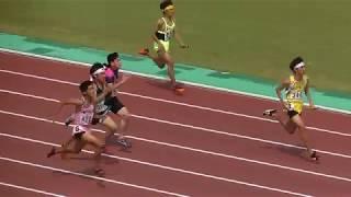 20180716北九州市中学陸上 男子4x100mリレー決勝