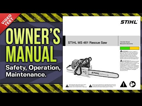Owner's Manual: STIHL MS 461 Rescue Chain Saw