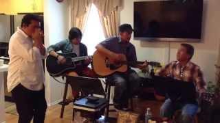 Praise Hymn acoustic jam ('Tis So Sweet To Trust in Jesus) Harmonica-Raul C., Guitar-Boi, Pol, & Dan