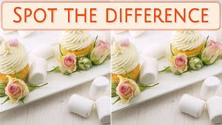 [ Brain games ] ( 3 ) Ep.004 Foods_marshmallow_01 | Spot the difference | photo puzzles | Healing