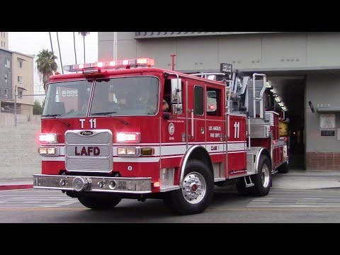 LAFD Light Force 11 (New Pierce TDA) Responding
