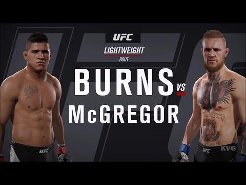 EA Sports UFC 2 - Gilbert Burns vs Conor McGregor | Gameplay (HD) [1080p60FPS]