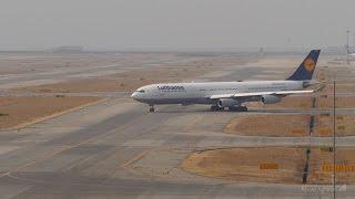 ルフトハンザドイツ航空 エアバスA340-300 関西国際空港 ランウェイ24レ...