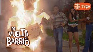 ¡En el barrio San José celebraron el año nuevo quemando a Sandoval! - De Vuelta al Barrio 06/04/2017